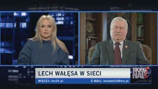 Były prezydent o komputerze (TVN24)