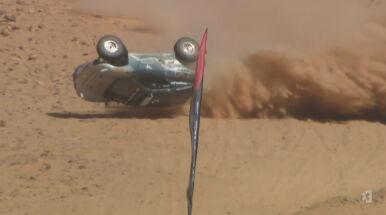 Dachowanie na pustyni. Wypadek przed pierwszym wyścigiem Extreme E
