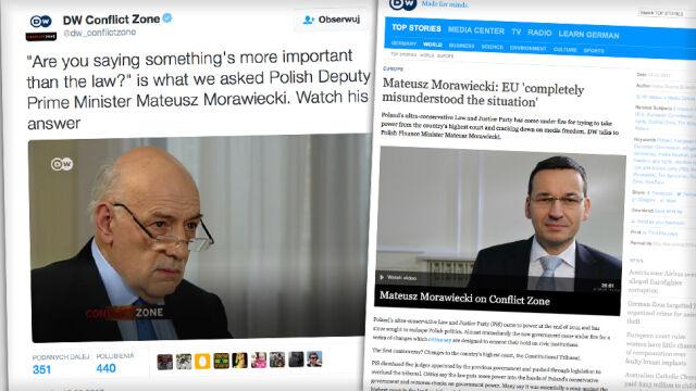 Morawiecki w Deutsche Welle: prawo nie jest najważniejsze