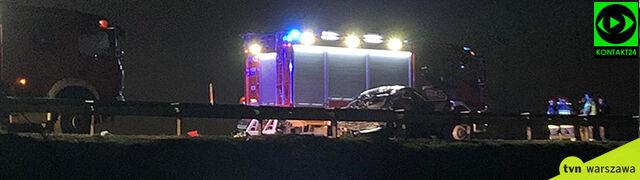 Uderzyła w stado dzików na autostradzie A2