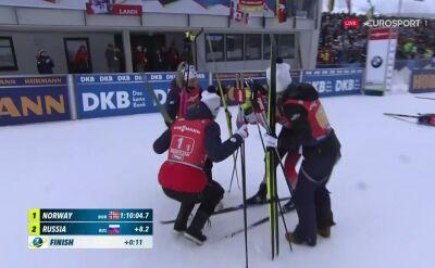 Norwegia wygrała sztafetę w Hochfilzen, Polska 9.