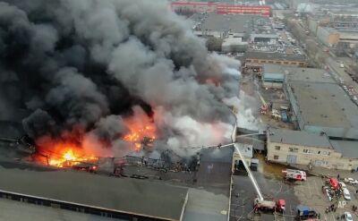 Pożar w zakładzie chemicznym w Moskwie