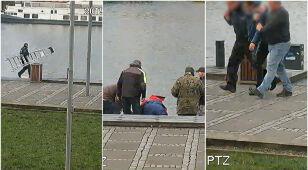 Usłyszeli krzyk, wzięli drabinę i pobiegli nad Odrę. Pracownicy Izby Skarbowej uratowali tonącą kobietę