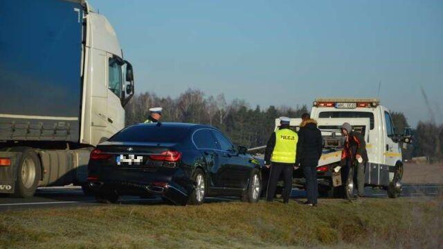Auto SOP zderzyło się z samochodem dostawczym. W limuzynie wicepremier Gowin