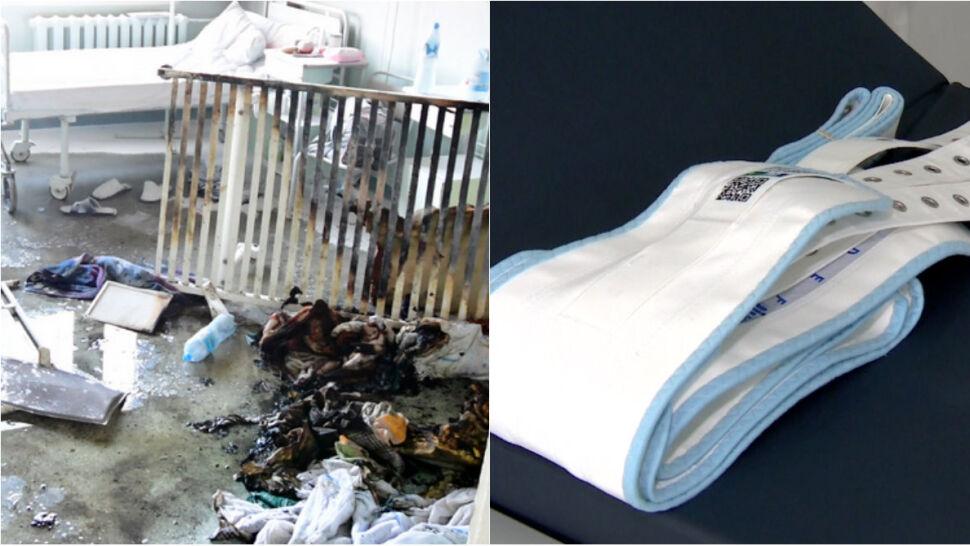 Był przypięty pasami, żądał papierosa. Godzinę później spłonął na łóżku. Jak doszło do pożaru?