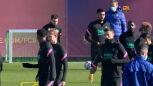 Messi trenował z Barceloną, ale do Kijowa nie poleci