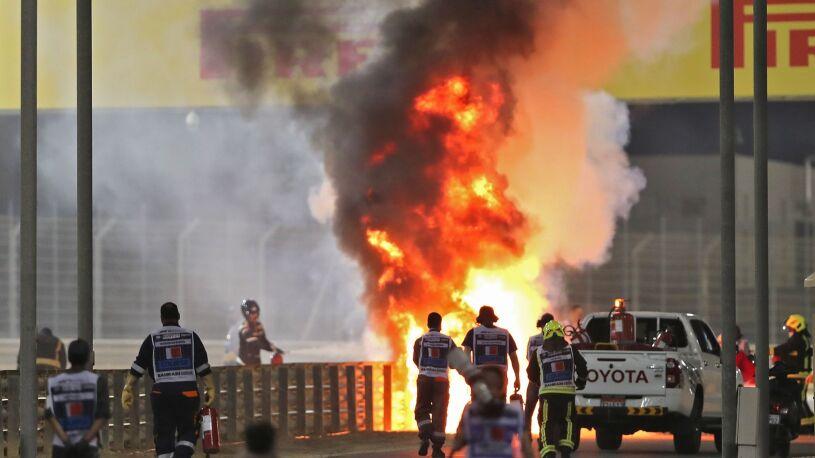 Bolid w płomieniach, wyścig przerwany. Koszmarny wypadek w Grand Prix Bahrajnu