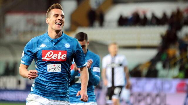 Trener Napoli chwali Milika: załatwił sprawę