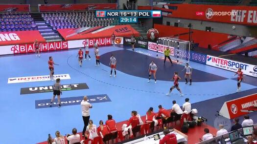 Polki przegrywały po pierwszej połowie starcia z Norwegią