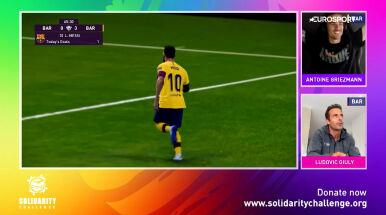 Gwiazdy rywalizują w wirtualnym turnieju. Griezmann zachwycił golem z rzutu wolnego
