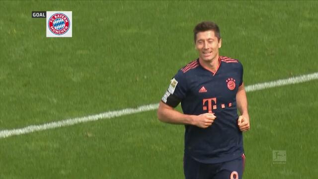 Gol Lewandowskiego w starciu z Bayerem Leverkusen w 30. kolejce Bundesligi