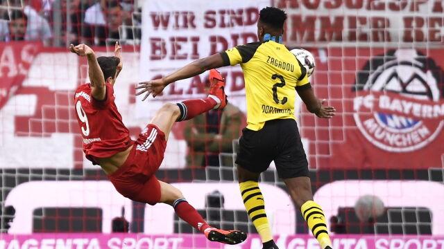 1b7a22793 Bayern - Borussia 5:0. 200. i 201. gol Lewandowskiego   Eurosport w ...