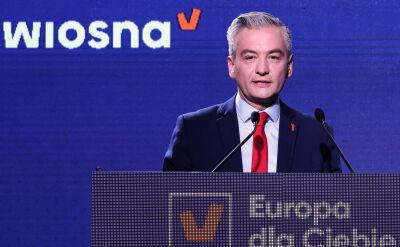 Robert Biedroń prezentuje postulaty Wiosny na eurowybory