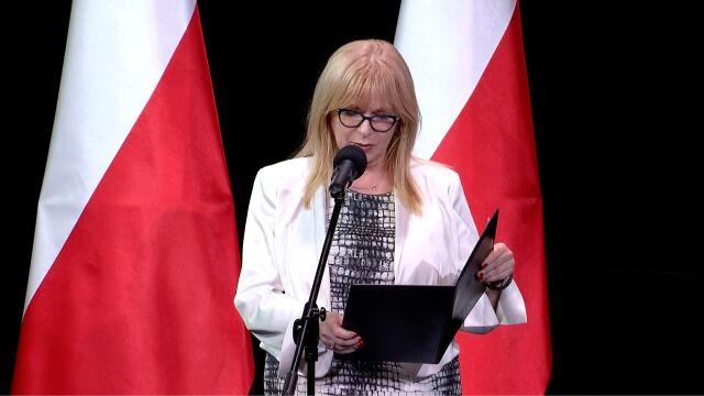 Gosiewska odczytała list marszałka Sejmu Marka Kuchcińskiego podczas gali Virtus et Fraternita