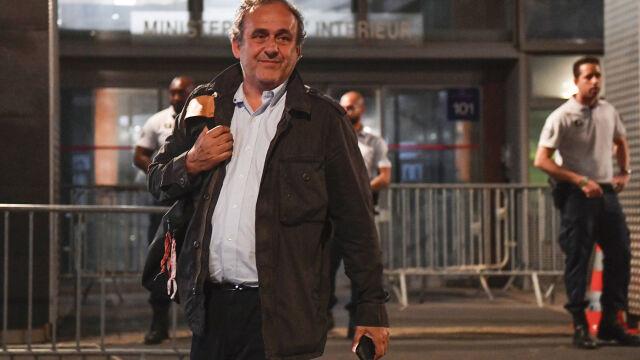 """Platini zeznawał kilkanaście godzin, z przesłuchania wyszedł w nocy. """"Nie ma sobie nic do zarzucenia"""""""