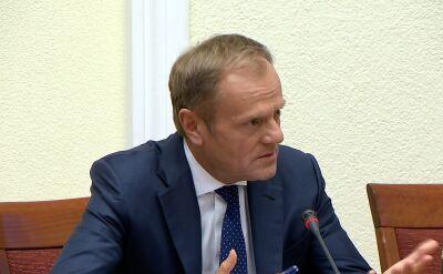 Tusk: wysoko oceniałem pracę ministra Rostowskiego