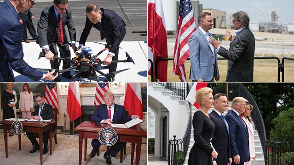 """Szereg spotkań i """"absolutnie strategiczna"""" współpraca. Prezydent zakończył wizytę w USA"""