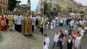 Procesje Bożego Ciała przeszły ulicami Warszawy i Krakowa
