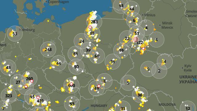 Grzmi w wielu miejscach. Sprawdź, gdzie jest burza