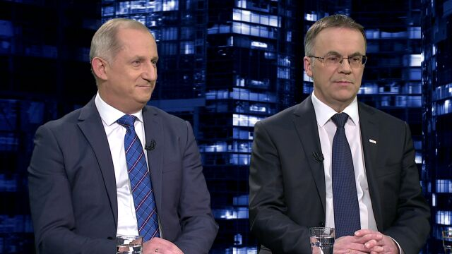 """Sławomir Neumann i Jarosław Sellin byli gośćmi """"Kropki nad i"""""""