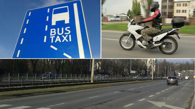 W Łodzi motocykliści mogą legalnie jeździć buspasami