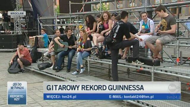 Relacja Tomasza Kanika z bicia rekordu (TVN24)