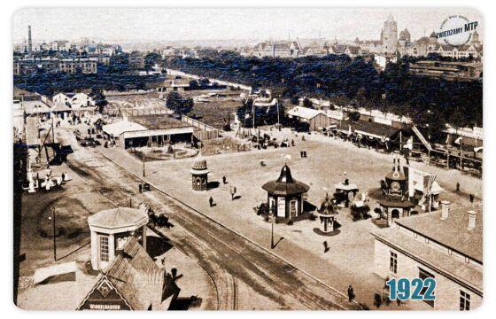 Tereny targowe w 1922 r.