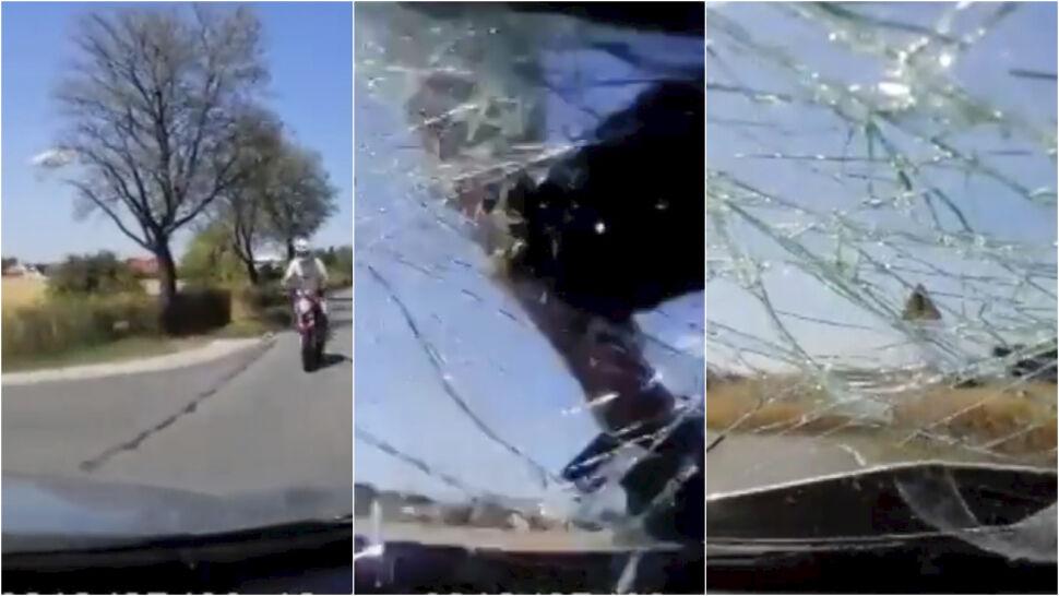 Skręcała, gdy uderzył w nią motocyklista. Policjanci nie są pewni, kto zawinił