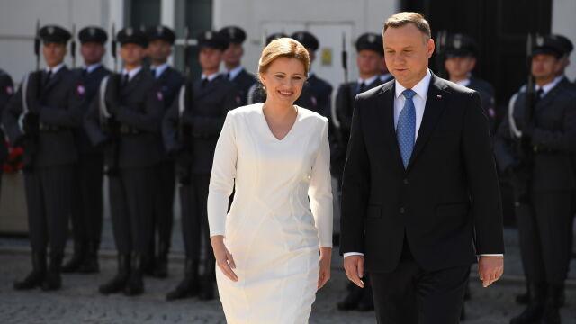 Czaputova w Warszawie.