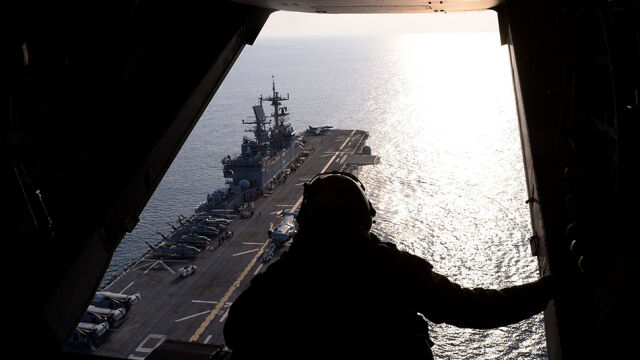 Amerykański okręt zestrzelił irańskiego drona