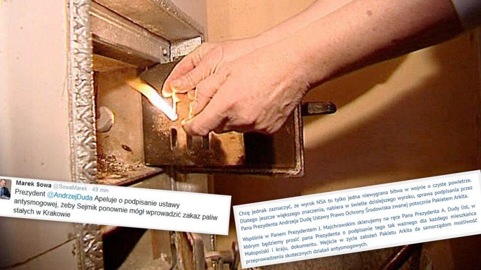 """W Krakowie będzie można palić węglem. NSA: """"uchwała antysmogowa"""" niezgodna z prawem"""