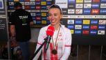 Niewiadoma po zdobyciu brązowego medalu w wyścigu ze startu wspólnego elity kobiet