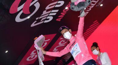 Wzruszenie nowego lidera Giro.