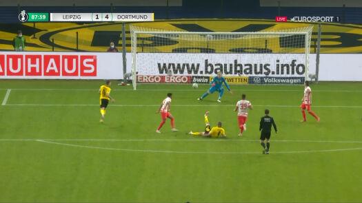 Puchar Niemiec. RB Lipsk – Borussia Dortmund 1:4. Gol Erling Haaland