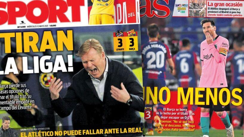 """Barcelona przybita. """"Wypisuje się z walki o tytuł"""""""