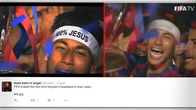 """FIFA ocenzurowała Neymara. Co się stało ze """"100% Jesus""""?"""