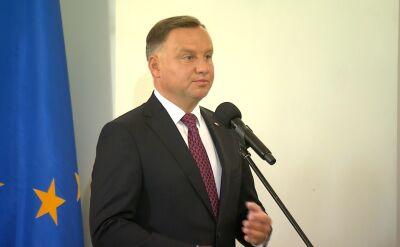 Andrzej Duda: dziękuje za to, że pani marszałek zgodziła się przyjąć kolejne wyzwanie