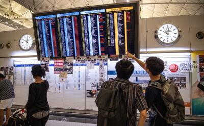 Lotnisko w Hongkongu zostało zablokowane przez protestujących