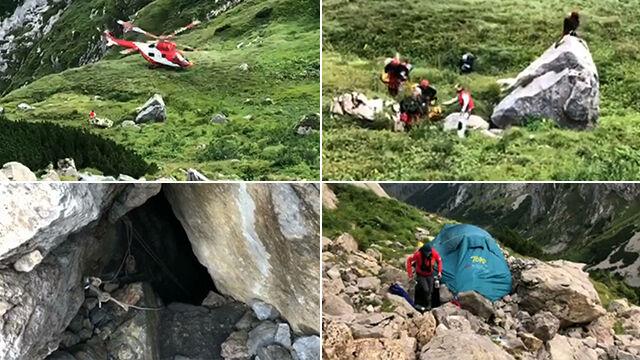 Dwaj grotołazi utknęli w jaskini, idą po nich ratownicy.