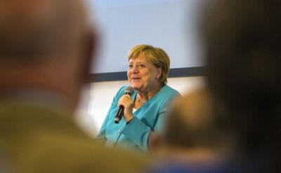 Merkel podczas spotkania w swoim okręgu wyborczym w Stralsundzie