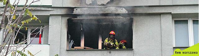 """Pożar na warszawskiej Woli, nie żyje jedna osoba. """"Podstawiony został skokochron"""""""