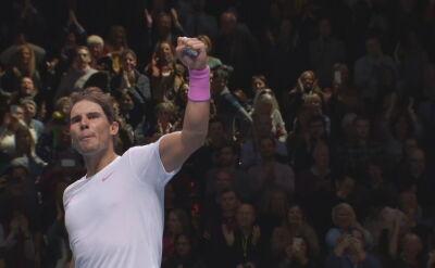 Nadal podniósł się z kolan i pokonał Miedwiediewa w ATP Finals