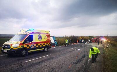 Tragiczne zderzenie autobusu z ciężarówką na Słowacji