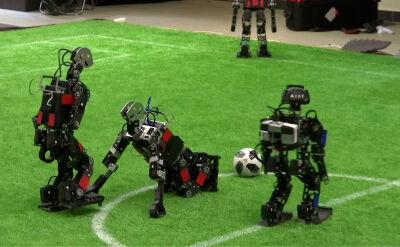 Międzynarodowy mecz robotów w Moskwie