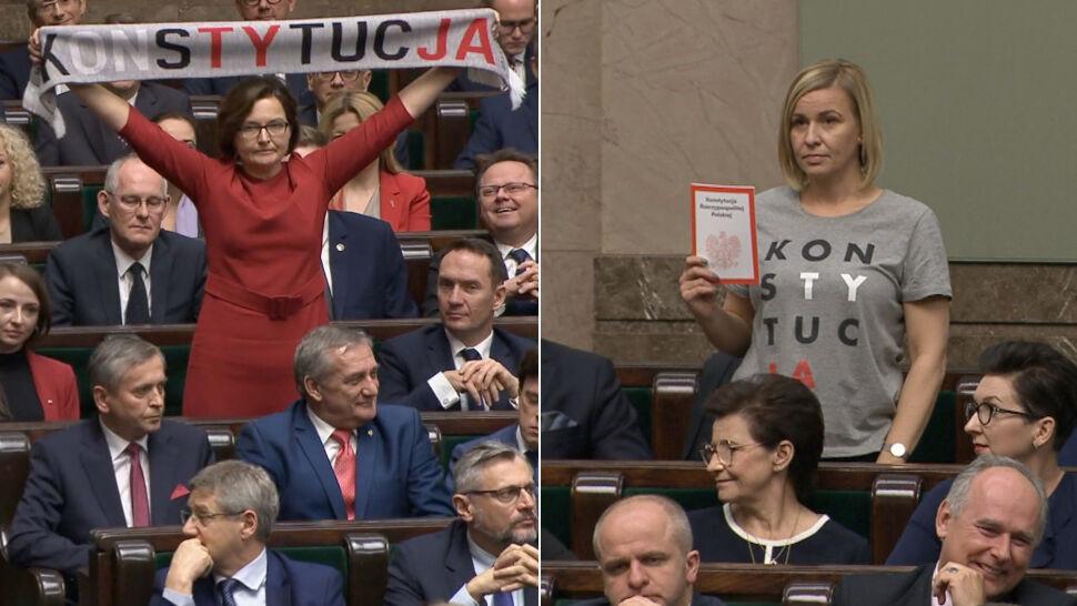 """Ślubowały w Sejmie. Jedna z szalikiem, druga  w koszulce """"Konstytucja"""". Kim są nowe posłanki?"""