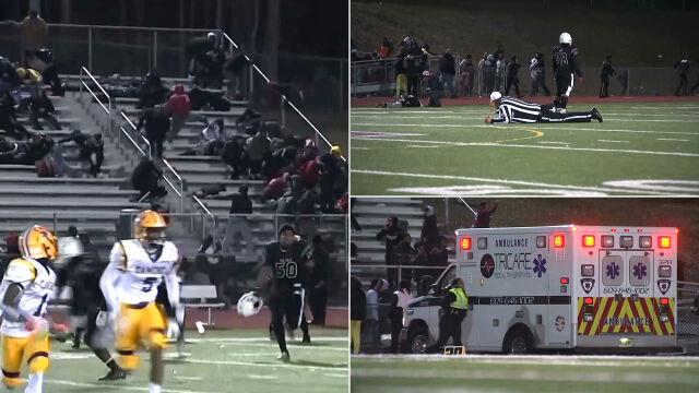 Strzały na szkolnym boisku w czasie meczu. Dwie osoby ciężko ranne