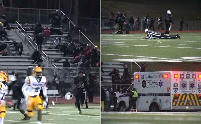 Strzały w czasie meczu futbolu amerykańskiego w New Jersey