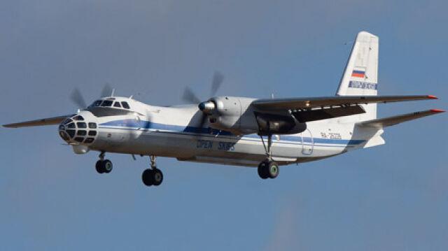 Antonow w płomieniach.   Na pokładzie wojskowi