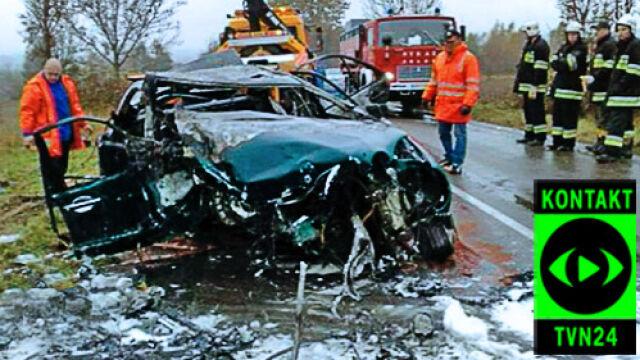 5 osób spłonęło w wypadku. Dziecko cudem przeżyło