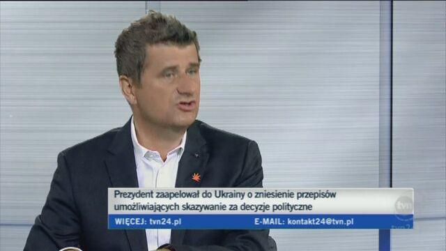 Janusz Palikot o apelu prezydenta (TVN24)